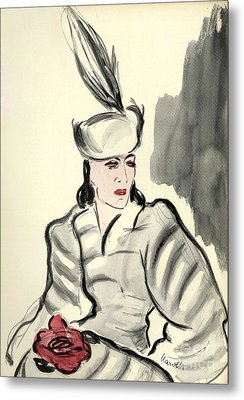 WomenÕs Fashion 1930s 1939 1930s Uk Metal Print by The Advertising Archives