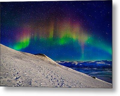 Aurora Borealis Or Northern Lights Metal Print by Panoramic Images