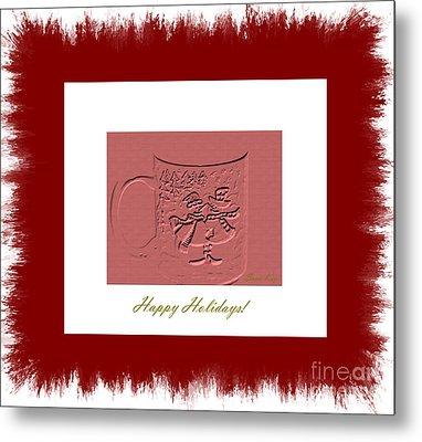 Happy Holidays Metal Print by Oksana Semenchenko