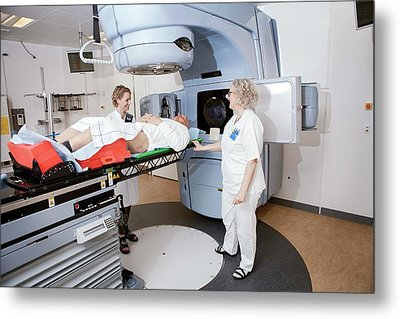 Radiotherapy Treatment Metal Print by Thomas Fredberg