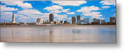 Skyscrapers At The Waterfront Metal Print by Panoramic Images