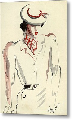 Women�s Fashion 1930s 1939 1930s Uk Metal Print by The Advertising Archives