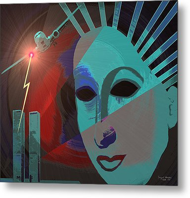 132 - Nine Eleven In My Mind Metal Print by Irmgard Schoendorf Welch