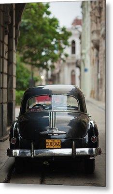 Cuba, Havana, Havana Vieja, Morning Metal Print by Walter Bibikow