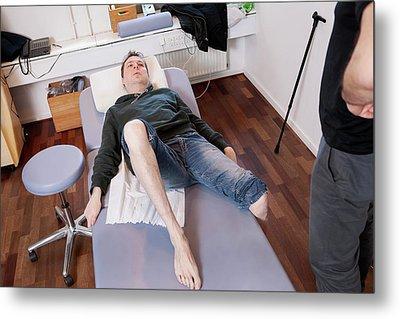Hemiplegic Stroke Physiotherapy Metal Print by Thomas Fredberg
