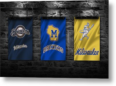Milwaukee Brewers Metal Print by Joe Hamilton