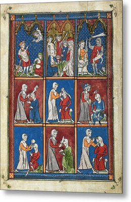 14th Century Religious Manuscript Metal Print by British Library