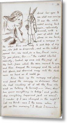 Alice's Adventures In Wonderland Metal Print