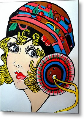 Art Deco  Ann Metal Print