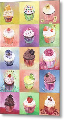 15 Cupcakes Metal Print by Jennifer Lommers