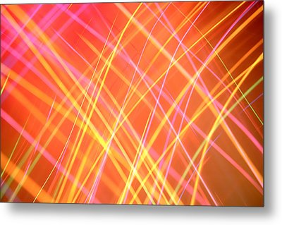 Energy Lines Metal Print by Les Cunliffe