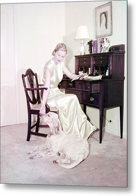 Joan Fontaine Metal Print by Silver Screen