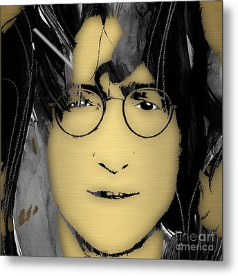 John Lennon Collection Metal Print by Marvin Blaine