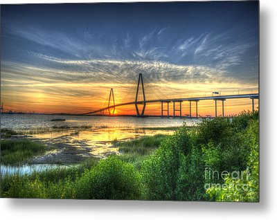 Lowcountry Sunset Metal Print by Dale Powell
