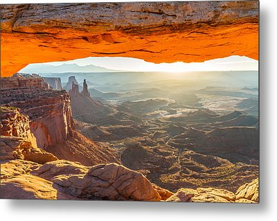 Mesa Arch Sunrise In Canyonlands National Park Metal Print