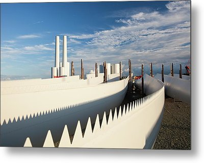 Parts For The Walney Offshore Wind Farm Metal Print