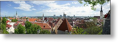 Aerial View Of Buildings In A City Metal Print by Panoramic Images
