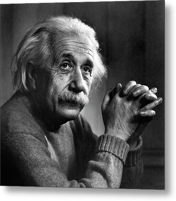 Albert Einstein Metal Print by Emilio Segre Visual Archives/american Institute Of Physics