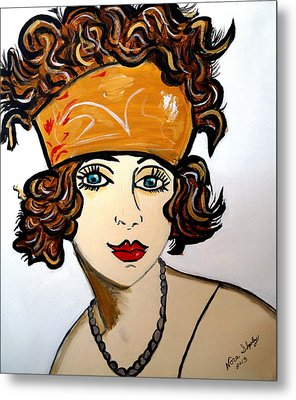 Art Deco  Hilda Metal Print by Nora Shepley