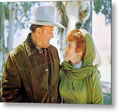 John Wayne Metal Print by Silver Screen