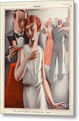 La Vie Parisienne 1920s France Cc Metal Print by The Advertising Archives