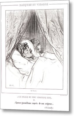 Paul Gavarni Aka Hippolyte-guillaume-sulpice Chevalier Metal Print