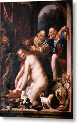 1600s Susanna And The Two Old Ones Metal Print