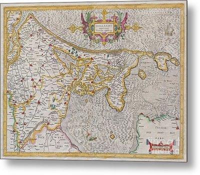 1606 Mercator Map Of Holland Metal Print