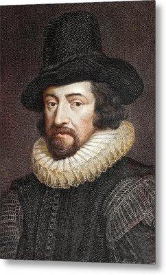 1618 Sir Francis Bacon Scientist Portrait Metal Print by Paul D Stewart