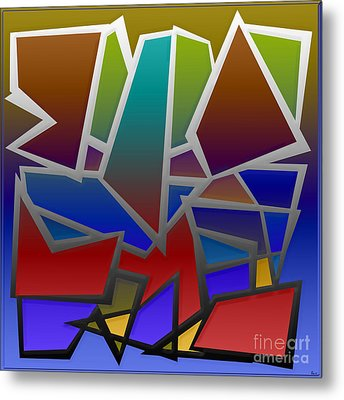 1624 Abstract Thought Metal Print