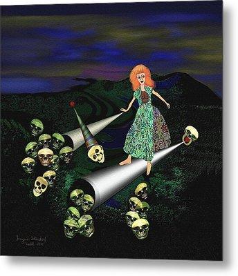 165 -   Lindas Nightwalk Metal Print by Irmgard Schoendorf Welch