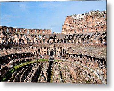 Colosseum In Rome Metal Print by George Atsametakis