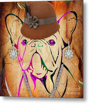 French Bulldog Collection Metal Print