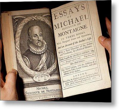 1700 Michel De Montaigne Essays Portrait Metal Print