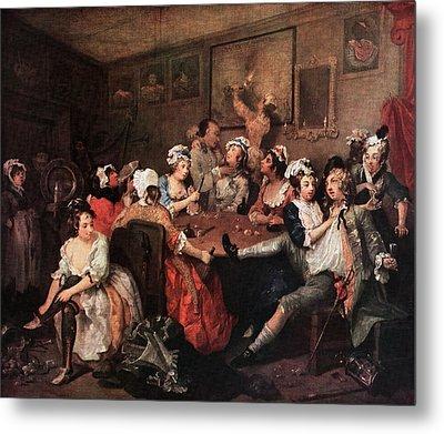 1700s The Orgy From Rakes Progress Metal Print