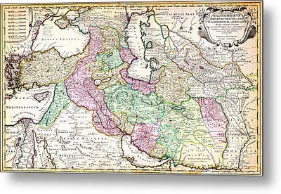 1730 Ottens Map Of Persia Iran Iraq Turkey Geographicus Regnumpersicum Ottens 1730 Metal Print by MotionAge Designs