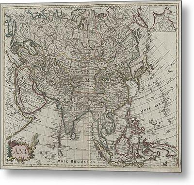 1745 Asia Map Metal Print