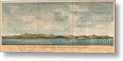 1748 Anson View Of Zihuatanejo Harbor Mexico Metal Print