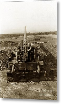 175mm Self Propelled Gun C 10 7-15th Field Artillery Vietnam 1968 Metal Print