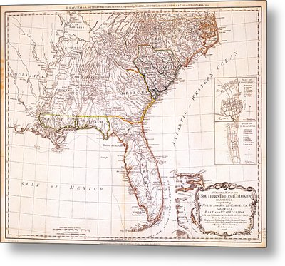 1776 - The Seat Of War In The Southern British Colonies Metal Print by Kayleigh Green