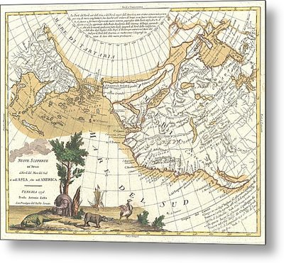 1776 Zatta Map Of California And The Western Parts Of North America Metal Print by Paul Fearn
