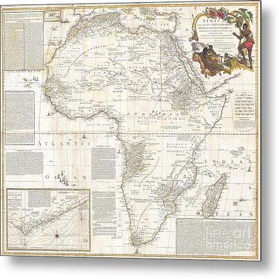 1787 Boulton  Sayer Wall Map Of Africa Metal Print by Paul Fearn