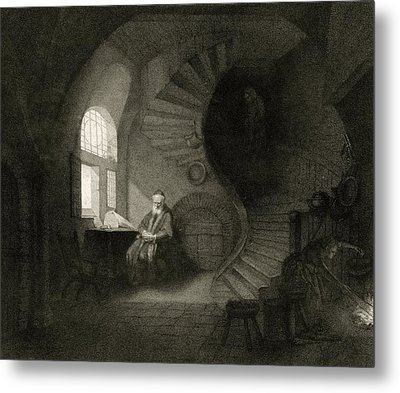 17th Century Philosopher, Artwork Metal Print by Science Photo Library