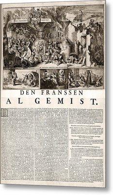 17th Century Political Satire, Artwork Metal Print