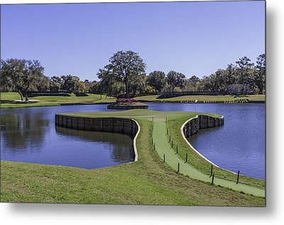 17th Hole Or Island Green At Tpc Sawgrass Metal Print