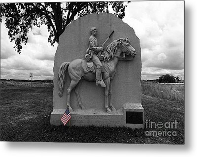 17th Pennsylvania Cavalry Monument Gettysburg Metal Print by James Brunker