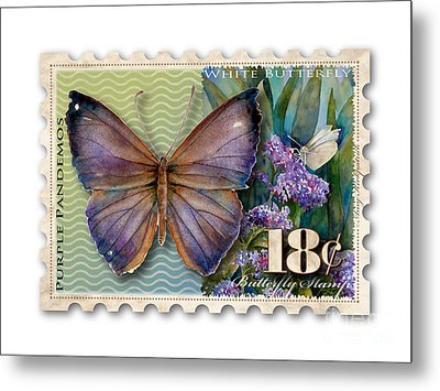 18 Cent Butterfly Stamp Metal Print