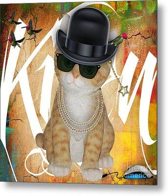 Cat Got The Mouse Metal Print