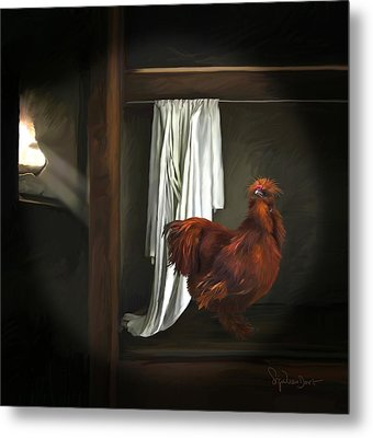 18. Red Rooster Metal Print