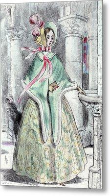 1839, Womens Fashion In Nineteenth-century Paris Metal Print by Artokoloro